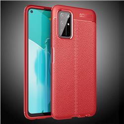 Luxury Auto Focus Litchi Texture Silicone TPU Back Cover for Huawei Honor 30s - Red