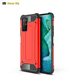King Kong Armor Premium Shockproof Dual Layer Rugged Hard Cover for Huawei Honor 30s - Big Red