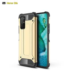 King Kong Armor Premium Shockproof Dual Layer Rugged Hard Cover for Huawei Honor 30s - Champagne Gold