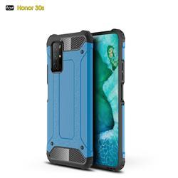 King Kong Armor Premium Shockproof Dual Layer Rugged Hard Cover for Huawei Honor 30s - Sky Blue