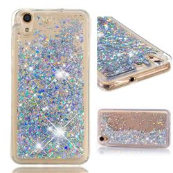 Dynamic Liquid Glitter Quicksand Sequins TPU Phone Case for Huawei Honor 5A - Silver