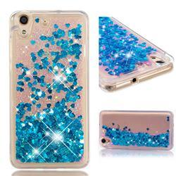 Dynamic Liquid Glitter Quicksand Sequins TPU Phone Case for Huawei Honor 5A - Blue
