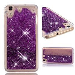Dynamic Liquid Glitter Quicksand Sequins TPU Phone Case for Huawei Honor 5A - Purple