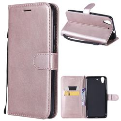Retro Greek Classic Smooth PU Leather Wallet Phone Case for Huawei Honor 5A - Rose Gold