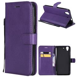 Retro Greek Classic Smooth PU Leather Wallet Phone Case for Huawei Honor 5A - Purple