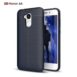 Luxury Auto Focus Litchi Texture Silicone TPU Back Cover for Huawei Honor 6A - Dark Blue