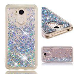 Dynamic Liquid Glitter Quicksand Sequins TPU Phone Case for Huawei Honor 6A - Silver