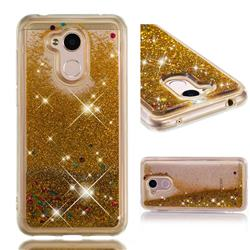 Dynamic Liquid Glitter Quicksand Sequins TPU Phone Case for Huawei Honor 6A - Golden