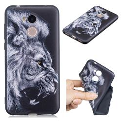 Lion 3D Embossed Relief Black TPU Cell Phone Back Cover for Huawei Honor 6A