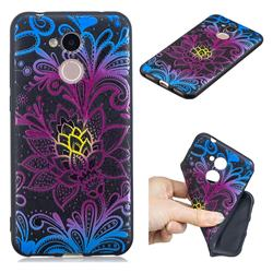 Colorful Lace 3D Embossed Relief Black TPU Cell Phone Back Cover for Huawei Honor 6A