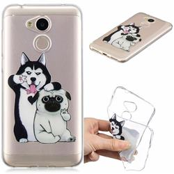 Selfie Dog Clear Varnish Soft Phone Back Cover for Huawei Honor 6A
