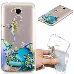 Mermaid Clear Varnish Soft Phone Back Cover for Huawei Honor 6A