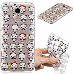 Mini Panda Clear Varnish Soft Phone Back Cover for Huawei Honor 6A