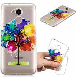 Oil Painting Tree Clear Varnish Soft Phone Back Cover for Huawei Honor 6A