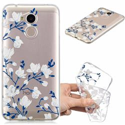 Magnolia Flower Clear Varnish Soft Phone Back Cover for Huawei Honor 6A