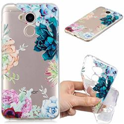 Gem Flower Clear Varnish Soft Phone Back Cover for Huawei Honor 6A