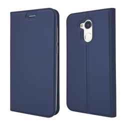 Ultra Slim Card Magnetic Automatic Suction Leather Wallet Case for Huawei Honor 6A - Royal Blue