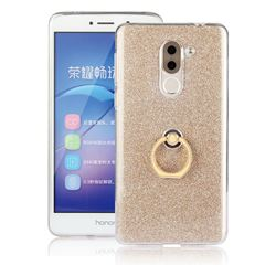 Luxury Soft TPU Glitter Back Ring Cover with 360 Rotate Finger Holder Buckle for Huawei Honor 6X Mate9 Lite - Golden