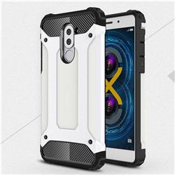 King Kong Armor Premium Shockproof Dual Layer Rugged Hard Cover for Huawei Honor 6X Mate9 Lite - White