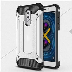 King Kong Armor Premium Shockproof Dual Layer Rugged Hard Cover for Huawei Honor 6X Mate9 Lite - Technology Silver