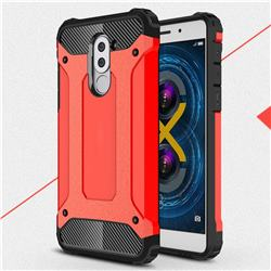 King Kong Armor Premium Shockproof Dual Layer Rugged Hard Cover for Huawei Honor 6X Mate9 Lite - Big Red