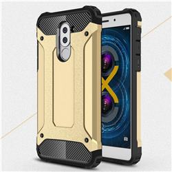King Kong Armor Premium Shockproof Dual Layer Rugged Hard Cover for Huawei Honor 6X Mate9 Lite - Champagne Gold