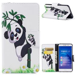 Bamboo Panda Leather Wallet Case for Huawei Honor 6X Mate9 Lite