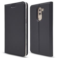 Ultra Slim Card Magnetic Automatic Suction Leather Wallet Case for Huawei Honor 6X Mate9 Lite - Star Grey