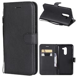Retro Greek Classic Smooth PU Leather Wallet Phone Case for Huawei Honor 6X Mate9 Lite - Black