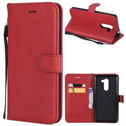 Retro Greek Classic Smooth PU Leather Wallet Phone Case for Huawei Honor 6X Mate9 Lite - Red