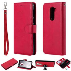 Retro Greek Detachable Magnetic PU Leather Wallet Phone Case for Huawei Honor 6X Mate9 Lite - Red