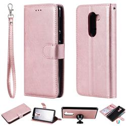 Retro Greek Detachable Magnetic PU Leather Wallet Phone Case for Huawei Honor 6X Mate9 Lite - Rose Gold