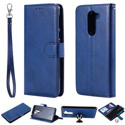 Retro Greek Detachable Magnetic PU Leather Wallet Phone Case for Huawei Honor 6X Mate9 Lite - Blue