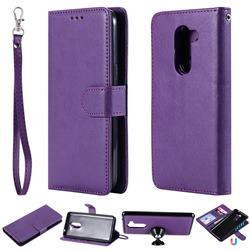Retro Greek Detachable Magnetic PU Leather Wallet Phone Case for Huawei Honor 6X Mate9 Lite - Purple