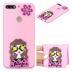 Violet Girl Soft 3D Silicone Case for Huawei Honor 7C