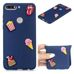 I Love Hamburger Soft 3D Silicone Case for Huawei Honor 7C