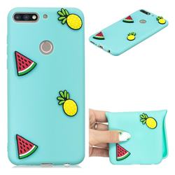 Watermelon Pineapple Soft 3D Silicone Case for Huawei Honor 7C