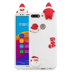 White Santa Claus Christmas Xmax Soft 3D Silicone Case for Huawei Honor 7C