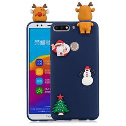 Navy Elk Christmas Xmax Soft 3D Silicone Case for Huawei Honor 7C