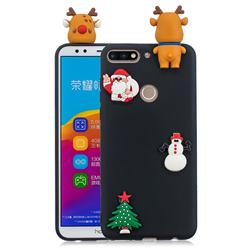 Black Elk Christmas Xmax Soft 3D Silicone Case for Huawei Honor 7C