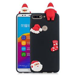 Black Santa Claus Christmas Xmax Soft 3D Silicone Case for Huawei Honor 7C