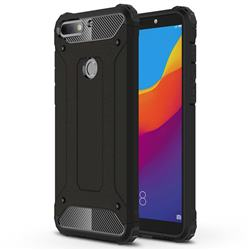 King Kong Armor Premium Shockproof Dual Layer Rugged Hard Cover for Huawei Honor 7C - Black Gold