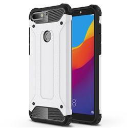 King Kong Armor Premium Shockproof Dual Layer Rugged Hard Cover for Huawei Honor 7C - White