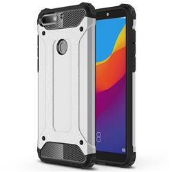 King Kong Armor Premium Shockproof Dual Layer Rugged Hard Cover for Huawei Honor 7C - Technology Silver
