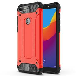 King Kong Armor Premium Shockproof Dual Layer Rugged Hard Cover for Huawei Honor 7C - Big Red