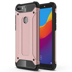King Kong Armor Premium Shockproof Dual Layer Rugged Hard Cover for Huawei Honor 7C - Rose Gold