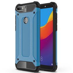 King Kong Armor Premium Shockproof Dual Layer Rugged Hard Cover for Huawei Honor 7C - Sky Blue