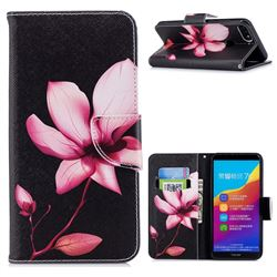Lotus Flower Leather Wallet Case for Huawei Honor 7C