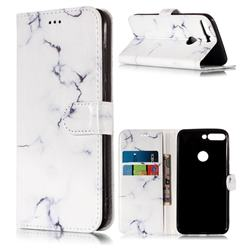 Soft White Marble PU Leather Wallet Case for Huawei Honor 7C