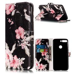 Azalea Flower PU Leather Wallet Case for Huawei Honor 7C